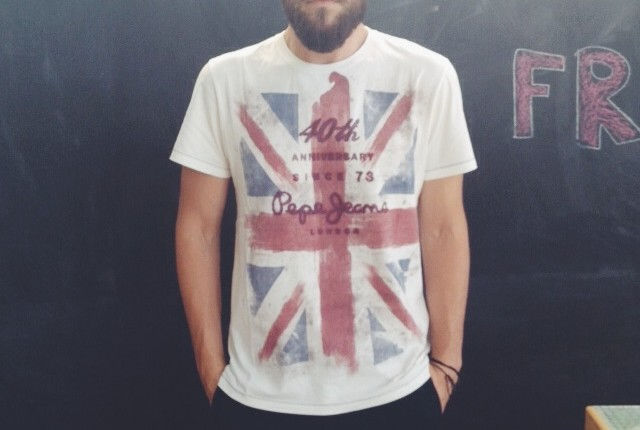 pepe jeans 40th anniversary T-shirt man street style fashion blogger