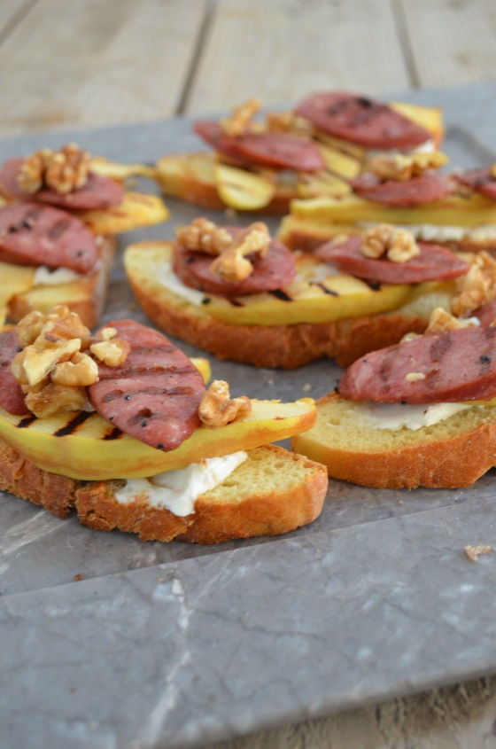bruschetta quince saussage recipe cool artisan