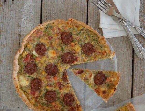 τάρτα με κρέμα λαχανικών και λουκάνικο Vegetable cream tart with sausage cool artisan γαβριηλ νικολαιδης
