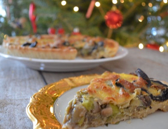 Leek and Mushroom tart recipe συνταγή τάρτα με πράσο και μανιτάρια cool artisan Γαβριήλ Νικολαΐδης