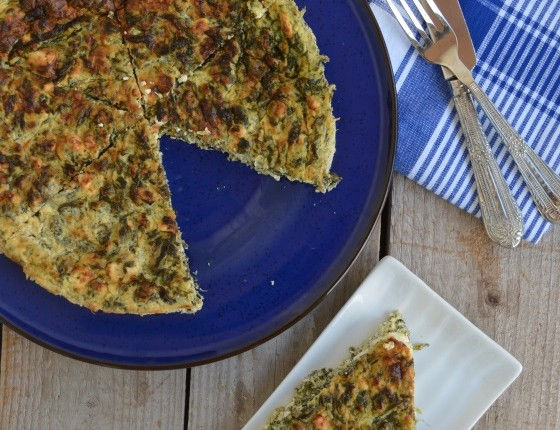 Spinach, feta cheese tart with no flour recipe cool artisan Γαβριήλ Νικολαίδης