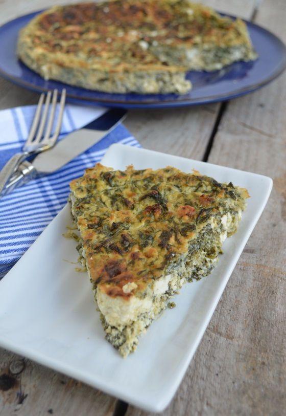 Spinach, feta cheese tart with no flour recipe cool artisan Γαβριήλ Νικολαίδης