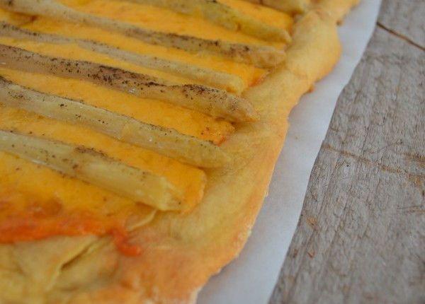 cheddar asparagus tart recipe