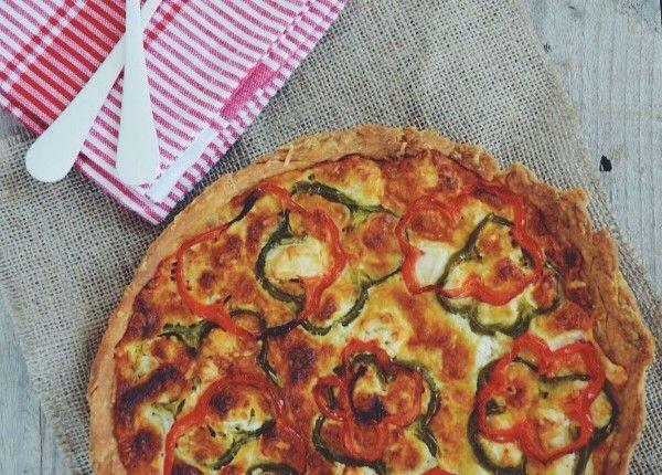 Peppers and Feta Tart recipe τάρτα με πιπεριές και φέτα συνταγή Γαβριήλ Νικολαίδης Cool Artisan