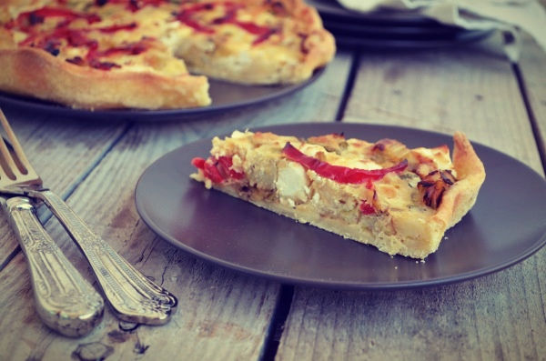 Potatoes and red peppers tart, τάρτα με κολοκυθάκια, πράσα, ζύμη για τάρτα, συνταγή, Γαβριήλ Νικολαίδης, Cool Artisan