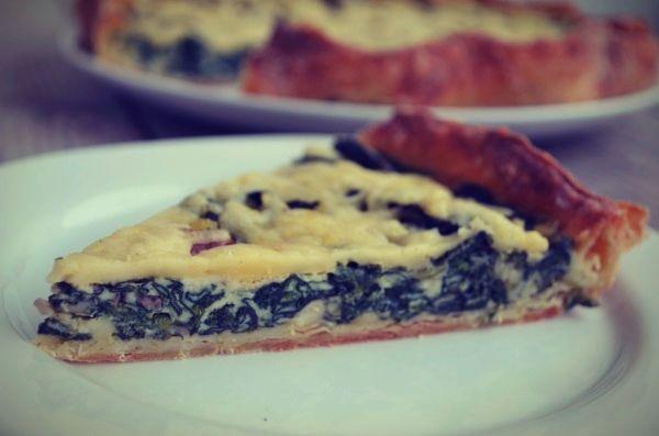Quiche Lorraine with spinach and bacon, recipe, tart, french, συνταγή, κις λορέν, σπανάκι, κρέμα γαλακτός, τυρί, γραβιέρα, Cool Artisan, Γαβριήλ Νικολαΐδης