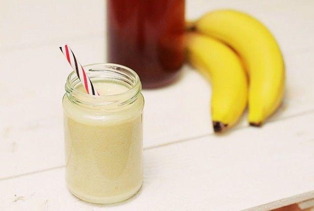 Homemade protein shake, banana, honey, peanut butter Recipe, συνταγή, σέικ, μπανάνα, μέλι, πρωτείνη, Γαβριήλ Νικολαΐδης, cool artisan