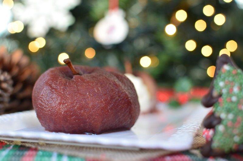 Spiced Red Wine Apples with Vanilla Mascarpone Cream Recipe, συνταγή, μήλα, βρασμένα, κρασί, κανέλα, μασκαρπόνε, κρέμα, βανίλια, cool artisan, Γαβριήλ Νικολαΐδης