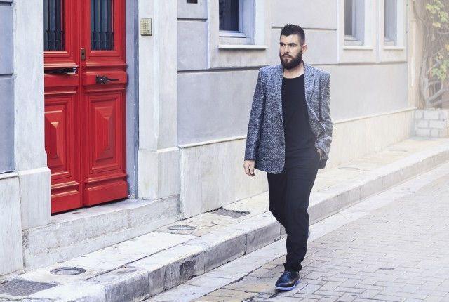 street style man blog fashion blogger, guy, marc by marc jacobs, blazer, asos, shoes, calazedonia, socks, best man fashion blog, trends 2015, menswear, new, black pants, black T-shirt, blue cameo socks1