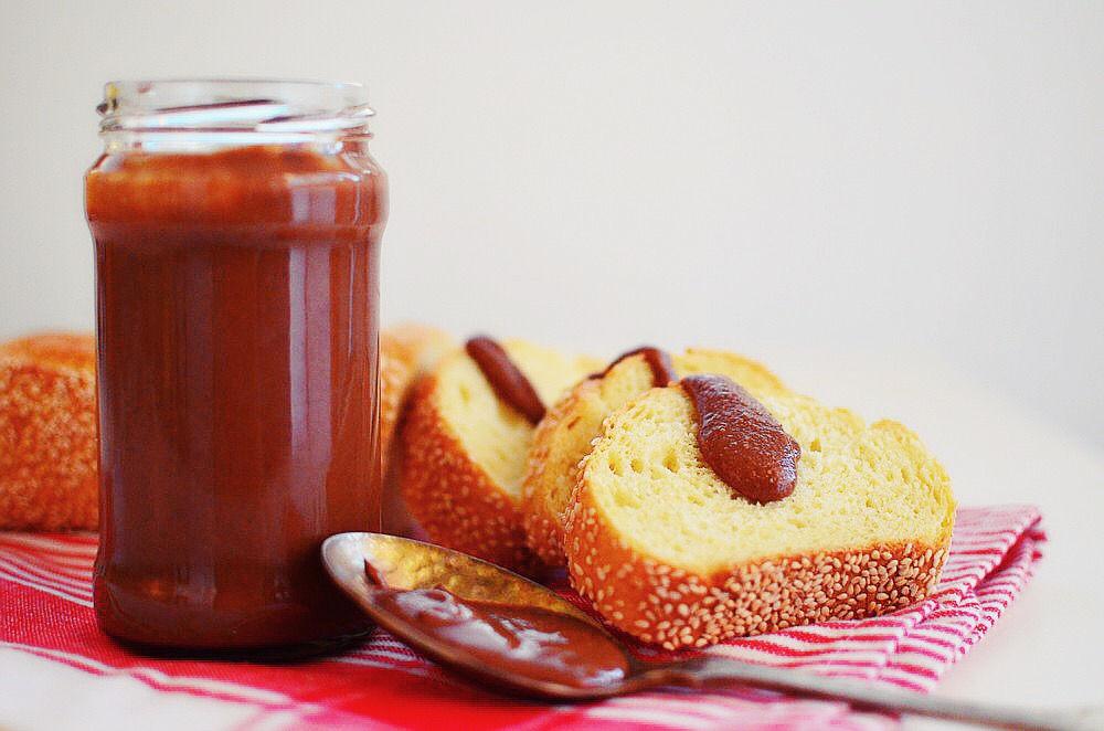 άλειμμα ταχινιού, σοκολάτα, μέλι, βούτυρο, ταχίνι, σησαμέλαιο, tahini, chocolate spread, recipe, honey, buttter, recipe, simple, cool artisan, Γαβριήλ Νικολαΐδης