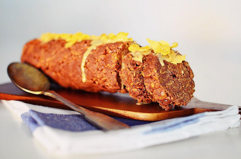Tahini, honey, Corn Flakes, Chocolate Salami Recipe, νηστίσιμος κορμός, ταχίνι, σοκολάτα, κορν φλέικς, μέλι, εύκολη,συνταγή, καθαρά δευτέρα, cool artisan, Γαβριήλ Νικολαΐδης