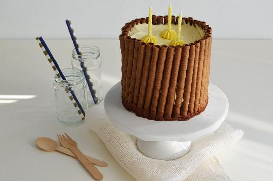 COOL ARTISAN, πουράκια, συνταγή, τούρτα, Γαβριήλ Νικολαΐδης, απλή, βασική, κρέμα σοκολάτας κεράκια, κρέμα βανίλια, recipe, Vanilla and Chocolate birthday cake