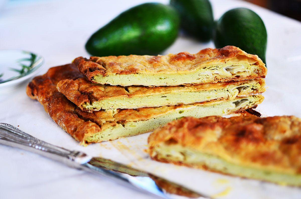 avocado pie, sweet, dessert, sugar, healthy, light, green, μπουγάτσα αβοκάντο, food52, cool artisan, Γαβριήλ Νικολαίδης σφολιάτα, puff pastry
