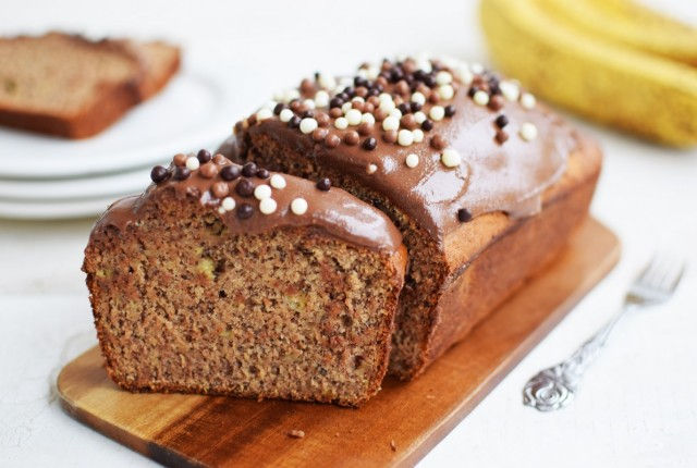 cake, bananas, tahini, chocolate, cocoa tahini