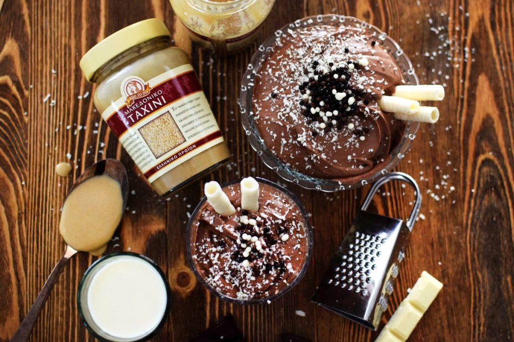 MACEDONIAN TAHINI, TAHINI, CHOCOLATE, 3-Ingredient Chocolate Mousse Recipe, COOL ARTISAN, ΣΟΚΟΛΑΤΑ, ΜΑΚΕΔΟΝΙΚΟ ΤΑΧΙΝΙ, ΤΑΧΙΝΙ, ΝΗΣΤΕΙΑ, ΝΗΣΤΙΣΙΜΗ ΣΥΝΤΑΓΗ,