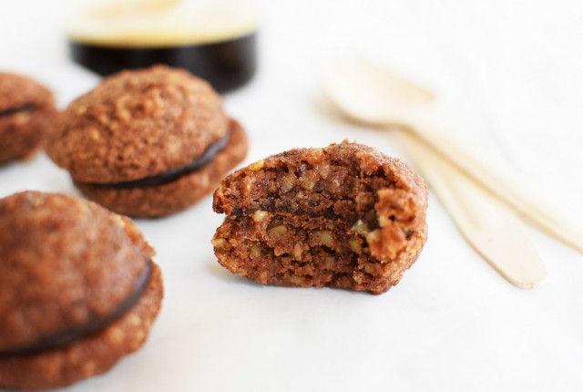 whoopie pies, chocolate, nuts, cookies