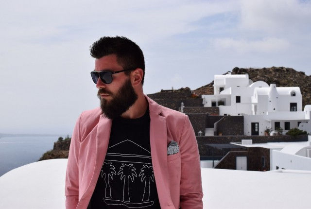 street style man fashio blogger, look, trend, 2016, sisley, pink suit, vacation, strret style, greece, what to wear on vacation, espadrilles, men, style 2
