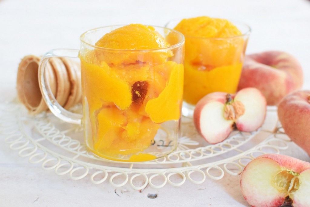 ice cream, homemade, peach, recipe