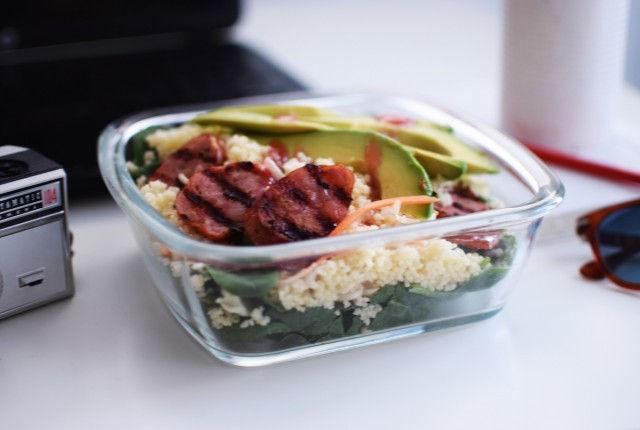 kouskous, sausage, summer, recipe, salad