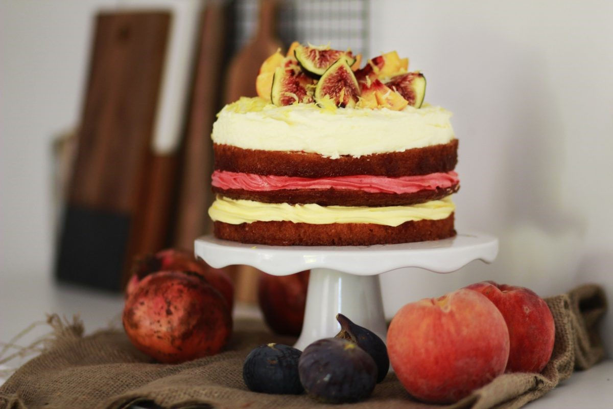 BIRTHDAY CAKE 1, Cake, Creme Patisserie, Pomegranate, ΤΟΥΡΤΑ, ΡΟΔΙ, ΦΡΟΥΤΑ
