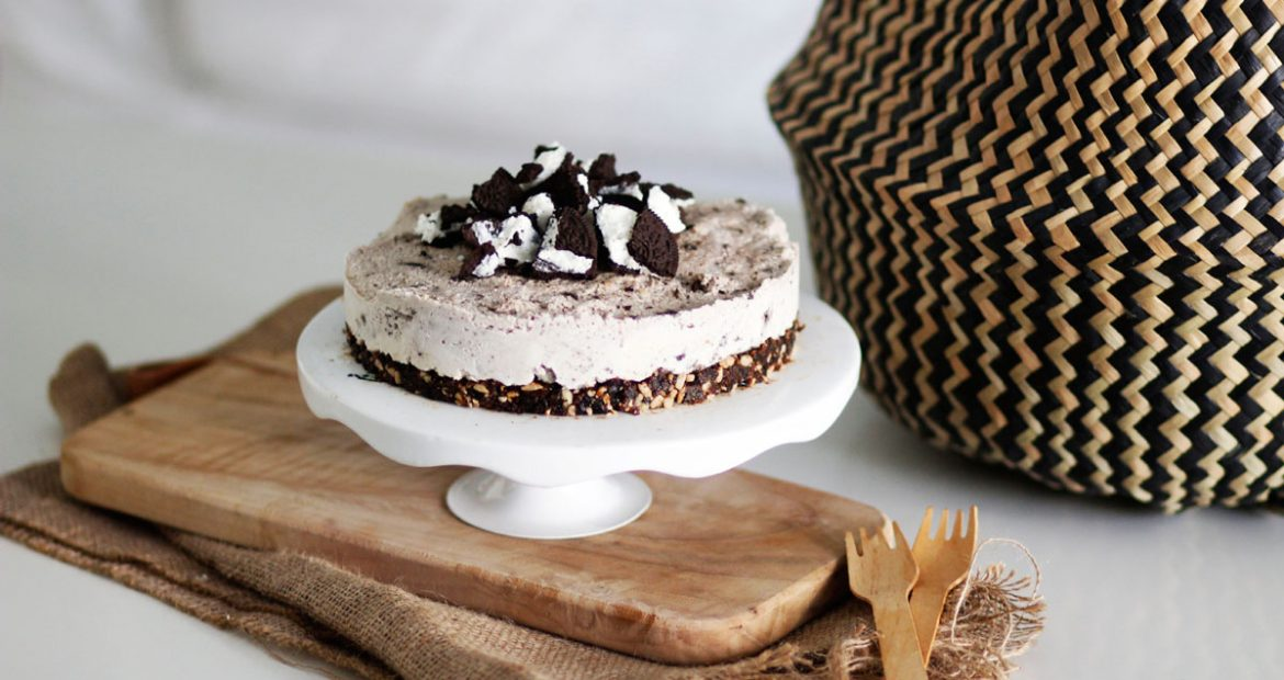 Vegan Oreos Cheesecake