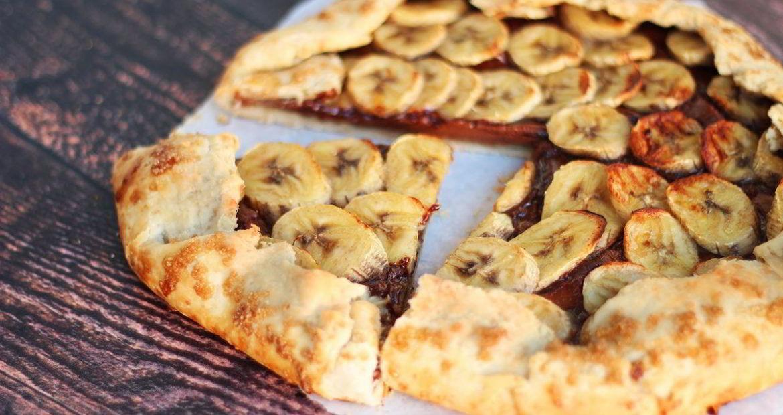 vegan banana galet βίγκαν συνταγή, πραλίνα φουντουκιού, γαβριήλ νικολαίδης, μπανάνα, γλυκό 4