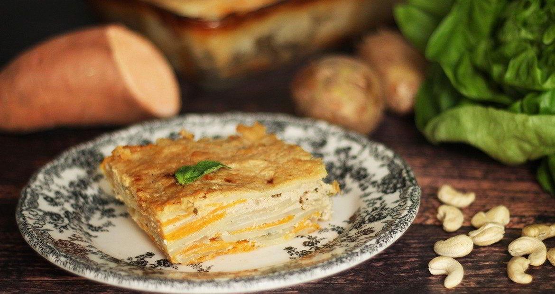 vegan potato dauphinoise, recipe, συνταγη, πατάτες, ντοφινουά, βίγκαν, Γαβριήλ Νικολαίδης 2